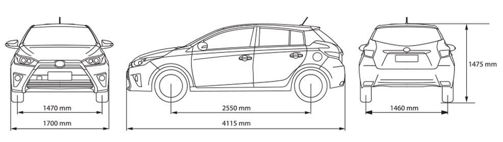 Thông số kĩ thuật Toyota Yaris 2018